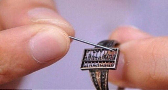 The oldest wearable tech: a 300 year old Chinese Qing Dynasty abacus ring